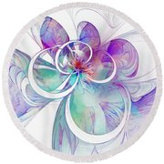 Tendrils 10 Round Beach Towel