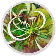 Tendrils 15 Round Beach Towel by Amanda Moore