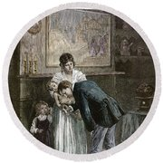 Tenement: Doctor, 1889 Round Beach Towel