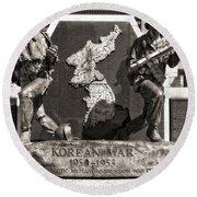 Tennessee Korean War Memorial Round Beach Towel by Dan Sproul