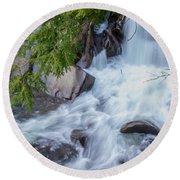 Tennessee Waterfall Round Beach Towel