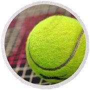 Tennis Anyone... Round Beach Towel