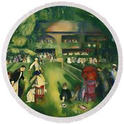 Tennis At Newport 1920 Round Beach Towel