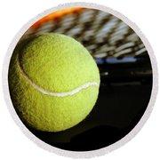 Tennis Equipment Round Beach Towel