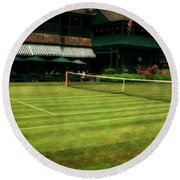 Tennis Hall Of Fame 2.0 Round Beach Towel