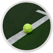 Tennis - The Baseline Round Beach Towel