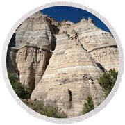 Tent Rocks 1 Round Beach Towel