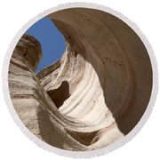 Tent Rocks Round Beach Towel