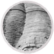 Tent Rocks Wall Round Beach Towel