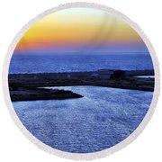 Tequila Sunrise Round Beach Towel by Jason Politte