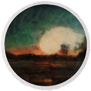 Tequila Sunrise Photo Art 03 Round Beach Towel