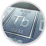 Terbium Chemical Element Round Beach Towel