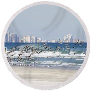 Terns On The Move Round Beach Towel