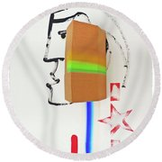 Terracotta Army Poster Round Beach Towel