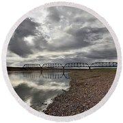 Terry Bridge Round Beach Towel