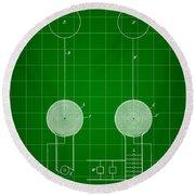 Tesla Electric Transmission Patent 1900 - Green Round Beach Towel