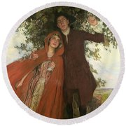 Tess Of The D'urbervilles Or The Elopement Round Beach Towel