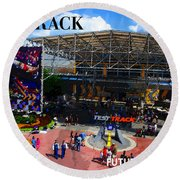 Test Track Opening 1999 Round Beach Towel