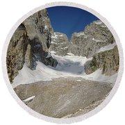 1m9385-teton Glacier Round Beach Towel