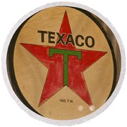 Texaco Star Round Beach Towel