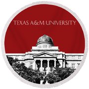 Texas A And M University - Dark Red Round Beach Towel
