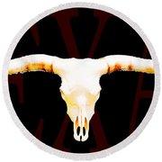 Texas Longhorns By Sharon Cummings Round Beach Towel