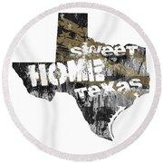 Texas Map Cool Round Beach Towel