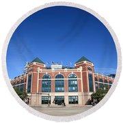 Texas Rangers Ballpark In Arlington Round Beach Towel