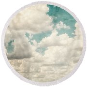 Texas Skies Round Beach Towel