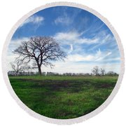 Texas Sky Round Beach Towel