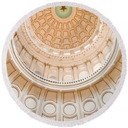 Texas State Building Dome Round Beach Towel