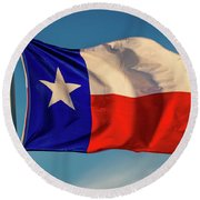 Texas State Flag - Texas Lone Star Flag Round Beach Towel