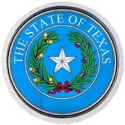 Texas State Seal Round Beach Towel