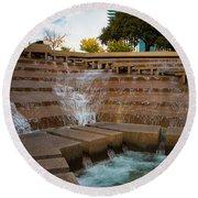 Texas Water Gardens Round Beach Towel