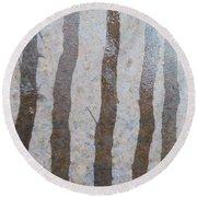 Textural Forest Round Beach Towel