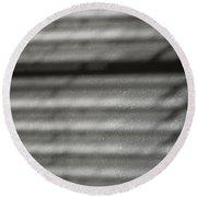 Texture In The Shadows Round Beach Towel by Christi Kraft