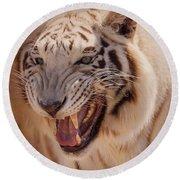 Textured Tiger Round Beach Towel