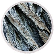 Textured Tree Bark Round Beach Towel
