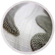 Textures 6 Round Beach Towel