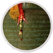 Thai Bell Round Beach Towel