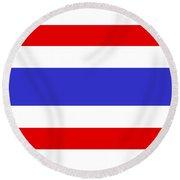 Thailand Flag Round Beach Towel
