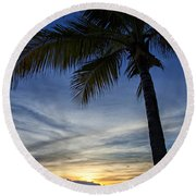 Thailand Sunset Sunrise Round Beach Towel