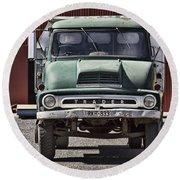 Thames Trader Vintage Truck Round Beach Towel