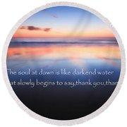 Thank You Round Beach Towel
