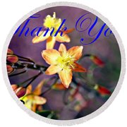 Thank You Card Round Beach Towel