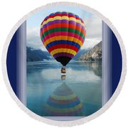 Thank You Hot Air Balloon In Alaska Round Beach Towel