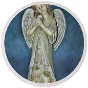 Thank You My Angel Round Beach Towel