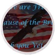 Thank You Veterans Round Beach Towel