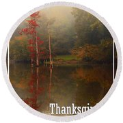 Thanksgiving Reflections Round Beach Towel