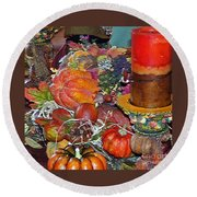 Thanksgiving Remembrance Round Beach Towel